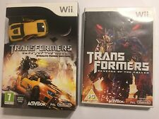 2 NINTENDO Wii GAMES +CAR TRANSFORMERS DARK OF THE MOON STEALTH FORCE + REVENGE