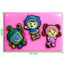 Team Umizoomi - Milli, Geo & Bot Silicone Mould by Fairie Blessings