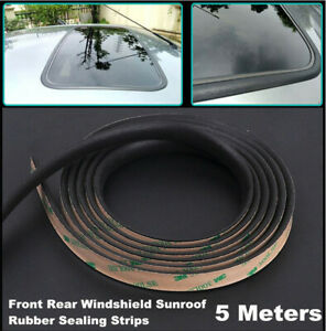 5m Car Sunroof Front & rear windshield Rubber Seal Strip Waterproof Accessories