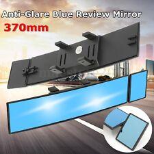 Universal Interior Clip On Wide Convex & Flat Dual Rear View Blue Tint Mirror
