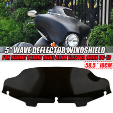 "Motorcycle Black 6"" Windshield Windscreen Air Deflector For Harley Electra Glide"