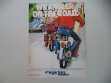 advertising Pubblicità 1980 JEANS WRANGLER e MAGGIOLINO BEETLE