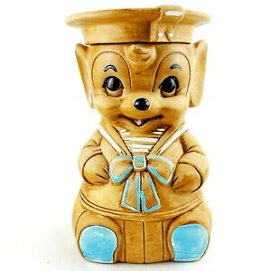 Vintage Twin Winton Cookie Jar Sailor Mouse Kitchen Collectible 1960s Canister