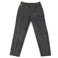 Escada Women's Metallic Glitter Silk Blend Pants Pleated Shiny Sz 42 Msre 31x29