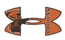 Under Armour Cleveland Browns  Football Truck/Window Decal Sticker -Set of 3