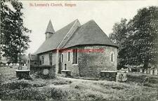 PRINTED POSTCARD OF St. LEONARD'S CHURCH, BENGEO, (NEAR HERTFORD), HERTFORDSHIRE