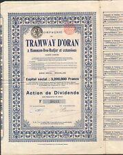 ALGÉRIE BELGIQUE F TRAMWAY d/'ORAN
