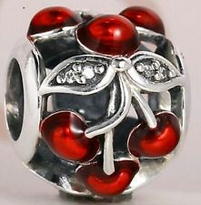 RED CHERRIES ARE SWEET .925 Sterling Silver European Charm Bead