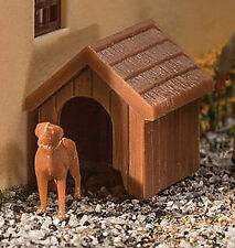 Walthers HO Scale Model Railroad Scenery Kit Dog & Kennel (Doghouse) Kit