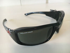Edge Brazeau Black Frame Polarized Smoke Lens Safety / Sun Glasses TXB216-C1