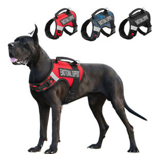 Reflective ESA Dog Harness No Pull Pet Emotional Support Working Vest 2 Patches