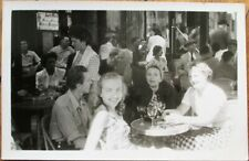 French Restaurant/Cafe/Bistro Terrace 1930s Realphoto Postcard: Young People