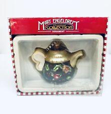 Mary Engelbreit Kurt S. Adler Blown Glass Christmas Ornament Teapot