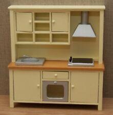 1:12 Dolls House Complete kitchen unit cream shaker style