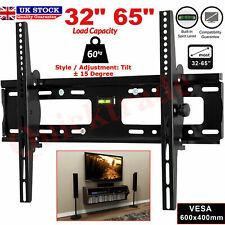 """TV Wall Bracket Mount Tilt Slim For 32 35 40 45 50 55 60 65"""" Inch LCD LED Plasma"""