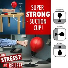 New Office Home Mini Tabletop Boxing Ball Stress Buster Fun Relax Punching Bag