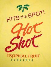 Vintage Hot Shot Schnapps Tropical Fruit Liquor Beer College Party T Shirt L