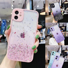 For iPhone 12 Pro Max 11 XR XS Shockproof Bling Glitter Powder Clear Girly Case