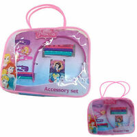 Kids Hair Clip Accessories Set Bag Bobbles Bands Sleepies Alice Disney Princess