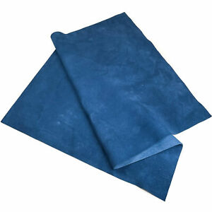 CLASSIC BLUE SUEDE 12x18in/30x45cm Sheet For Crafting // Soft Velour Fabric Pie