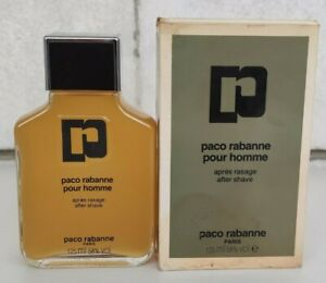 VINTAGE FRANCE PACO RABANNE POUR HOMME AFTER SHAVE 125 ml 4.2 oz SPLASH
