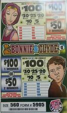 """$140 PROFIT """"BONNIE & CLYDE"""" $1 PULL TAB 560 TICKET COUNT"""