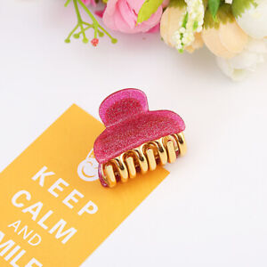 Small Size Hair Clips Claw Color Acrylic for Girls Hairpin Crab Hair Accessories