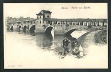 Pavia : Ponte sul Ticino - cartolina non viaggiata indicativamente primi '900