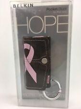 Belkin• Brown DenIm & PINK• HOPE  Cancer Case Cover For iPod Nano 2G 2nd Gen•New
