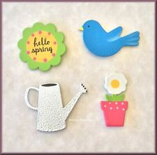 Hello Spring Metal Magnets Set Of 4 By Roeda® Free U.S. Shipping