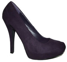 NEW Purple HIGH HEEL CLASSIC PUMP Hidden mini Platform OFFICE WORK SHOE size 7.5