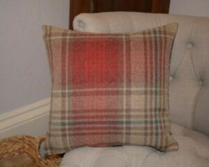 """Next Versatile Check Stirling Red Cushion Cover 18""""x18"""""""