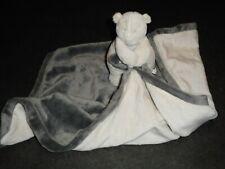 Doudou Ours Tonton Blanc Couverture Écru Gris Anthracite Noukies Noukie's TTBE