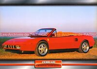 FERRARI Mondial Cabriolet 1984 : Fiche Auto Collection
