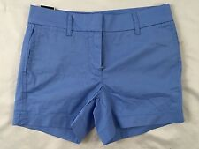 J. Crew Women's Shorts Light Blue Chino Inseam 4 New With Tags Size 8