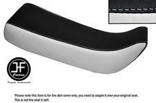 Personalizado de vinilo negro y blanco encaja Honda Xr 100 R 85-97 Doble Cubierta de asiento solamente