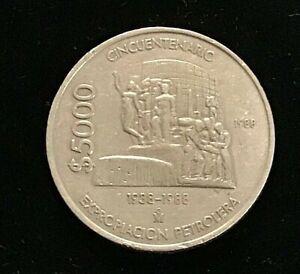 1988 MEXICO $5000 Exploration .VF / EF