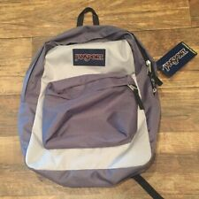 JanSport GREY two tone Backpack Day Back Bookbag School NEW