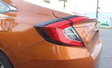 Carbon Fiber Look Tail Light Eyelid Trim for Honda Civic 10th Sedan 2016 2017