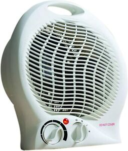 Daewoo 2000W Flat Or Upright Fan Heater Thermostat Control with 2 Heat Setting