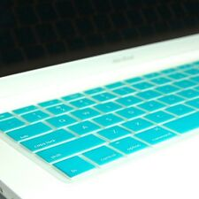 AQUA BLUE Silicone Keyboard Cover Skin for Macbook 13
