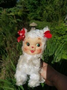 VINTAGE RUSHTON RUBBER FACE KITTY CAT STUFFED