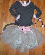 Pottery Barn Kids Gray Kitty Tutu Halloween Costume Size 7 - 8 Years READ!