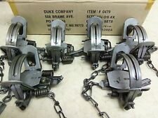 6 Duke #1 3/4 (1.75) OFFSET 4 COILED Spring Traps Raccoon Coyote Bobcat Fox 0479