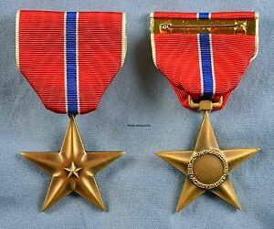 Bronze Star Medal - full size- Post WWII type issued Vietnam to date - USA Made