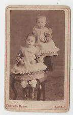 Two Infants/Young Children from Karlstad, Sweden/in Best Clothes/Creative Pose