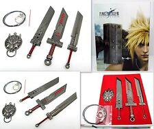 Cosplay Final Fantasy VII Manga Metall Schwert Kette mit Anhänger Box 4er Set