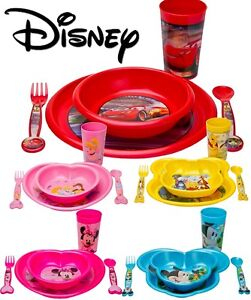 Kids 5 Piece Disney Breakfast Lunch Dinner Supper Plate Bowl Cup Children's Sets