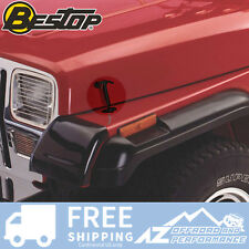 Bestop Hood Latch Kit Pair 42-95 Jeep CJ & Wrangler YJ Black