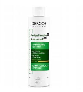 Vichy Dercos Shampoo Anti Dandruff Dry Hair 200ml Flakes Itchiness Scalp Salon